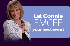 let connie emcee your event