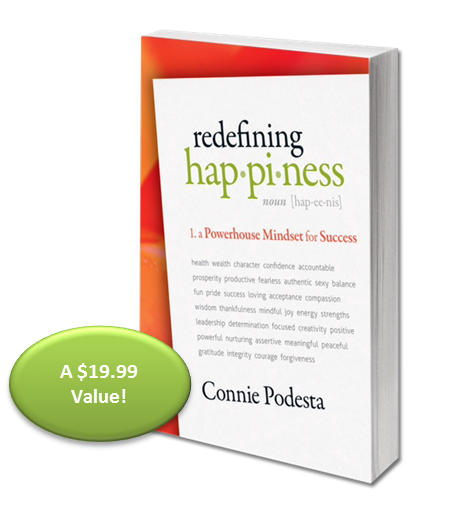 Connie Podesta's Redefining Happiness eBook