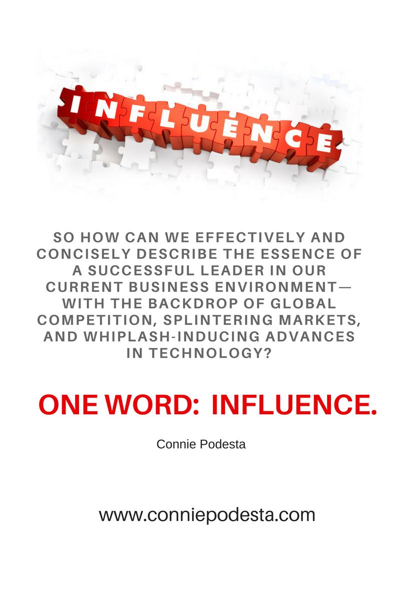 Connie Podesta Leadership Skills Influence